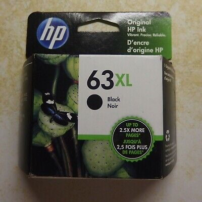 HP 63XL BLACK ink cartridge - New in Sealed box - Exp Aug 2020