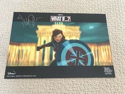 D23 Expo 2019 What If Agent Carter Marvel Disney + Signed Haylet Atwell Endgame