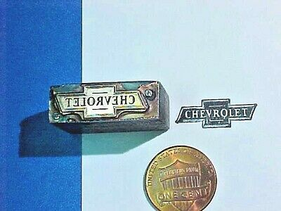 EARLY 1900's CHEVROLET BOW TIE Emblem Logo OLD CHEVY Letterpress Printers Cut