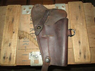 WWII WW2  holster for 1911 m-3 M-7 LEATHER HOLSTER US ARMY USMC  original  colt