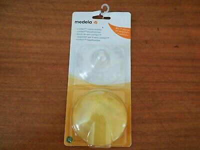 New Medela contact nipple shields with case large 24mm - 2 pack