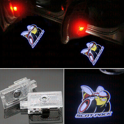 2pc Door Projector Ghost Shadow Logo Light for Dodge Charger Scat Pack 2006-2020