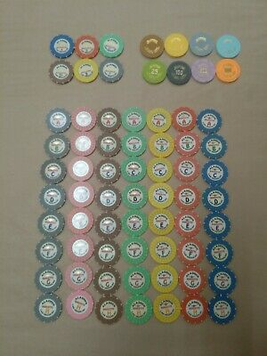 The Aladdin Casino Las Vegas  Complete Roulette Chip Set 56 Chips With Bonus