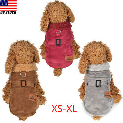 Pet Clothing Winter Apparel Small Dog Clothes Coat Puppy Warm Jacket Outwear
