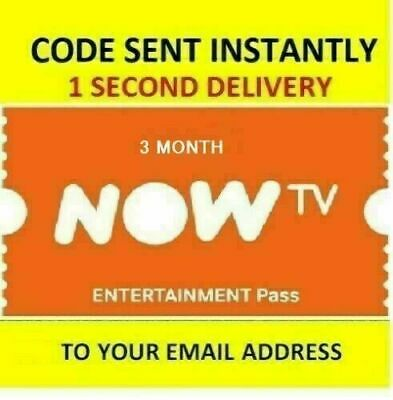 NOW TV 3 Months Entertainment Pass for £12.93 - ***SENT INSTANTLY***
