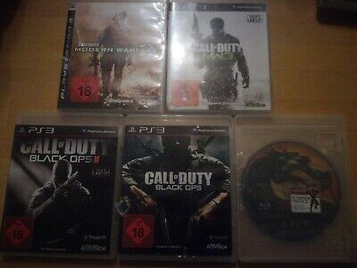Call of duty black ops 1 2 modern warfare 2 und 3 Mortal kombat Ps3 Playstation3