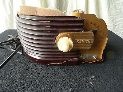 Zenith 6D-311 DECO antique vintage old tube radio Z KNOB