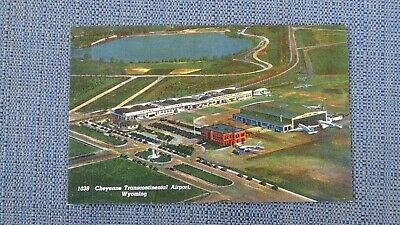 Vintage Postcard Cheyenne Transcontinental Airport Wyoming