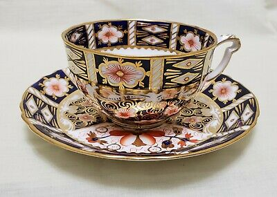 Antique Royal Crown Derby England Cup And Saucer Imari Pattern