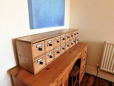 A Delightful Victorian Pine Spice Drawer Cabinet or Shop Curio