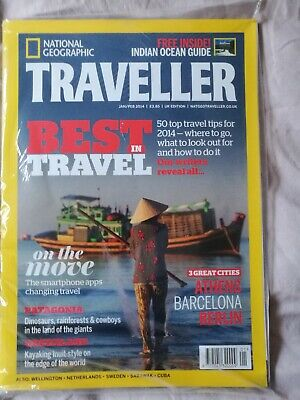 National Geographic Traveller Magazine *new* Jan/Feb 2014 Issue. Patagonia