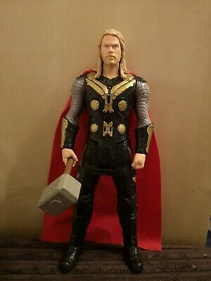 """Marvel Avengers Interactive Thor with Hammer and sounds 12"""" Action Figure Hasbro"""