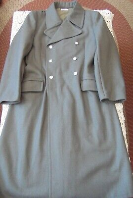 NVA East German Military Gray Wool Army Officer's Double Breasted Coat Size