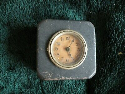 Vintage CLOCK Coin BANK metal & Cast Iron missing prone key ? working W15