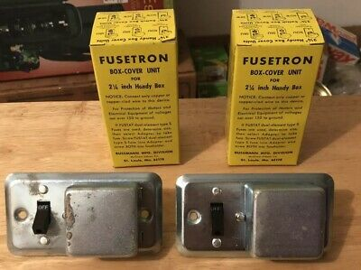 Lot of (2) Two FUSETRON SSU Box cover Unit for 2 1/4 inch Handy Box. NOS