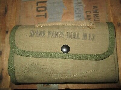 WWII WW2 NOS M1 Garand 1919 1911 M1 Carbine Spare Parts Pouch ORIGINAL US ARMY