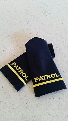 Security Guard Patrol Rank Officer  Epualettes Slide, pair -LAST PAIR-