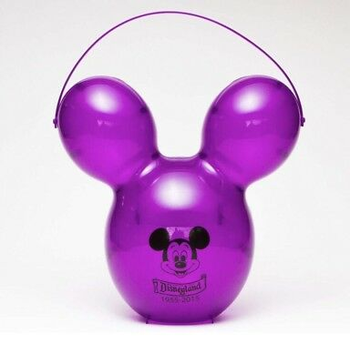 Disney Mickey Mouse Balloon 60th Anniversary Popcorn Bucket ( PURPLE ) PURPLE