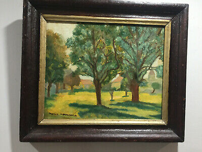 landscape  original small oil painting Canadian listed manly MacDonald