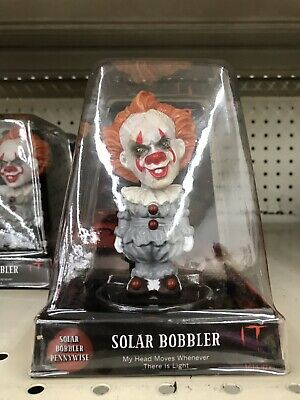 IT Pennywise Clown Licensed Bobble Head NEW Solar Powered NIB Horror Chapter 2
