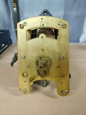 Vintage c1920 Cincinnati Time Recorder Clock Movement + BACK Synchrone Nice Find