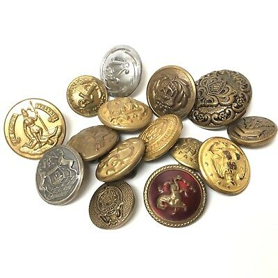 Antique WWI WW2 US Army Military Officer Enlisted Worldwide States Button Lot C