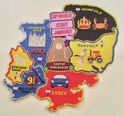 East of England IST (Staff) United Kingdom Badge 2019 24th World Scout Jamboree