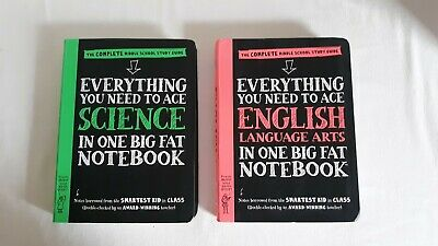 2 Everything You Need to Ace SCIENCE & ENGLISH in One Big Fat Notebook-FREE SHIP