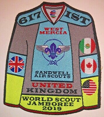 West Mercia Sandwell Air Scouts IST UK Badge 2019 24th World Boy Scout Jamboree