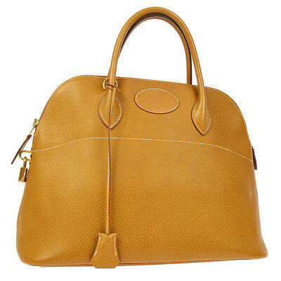 HERMES BOLIDE 35 2way Hand Bag Natural Sabre Ardennes Authentic AK35557k