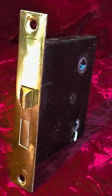 One REFURBISHED Antique c.1915 Brass Passage Mortise Door Locks (14 Available!)