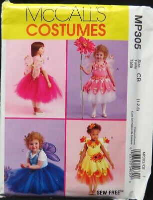McCall's child's fairy costume pattern size 1, 2, 3 uncut