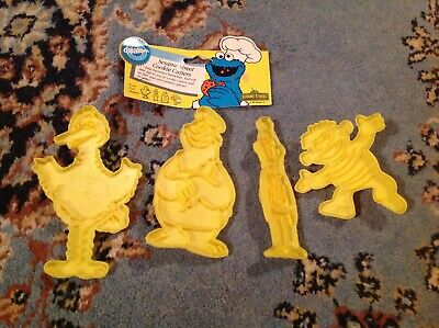 Vintage Wilton Sesame Street Cookie Cutters 1988 Cookie Cutters 50 Anniversary