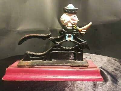 Vintage NUT CRACKER CAST IRON With Soldier Original Paint!