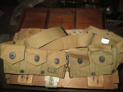 WWII WW2 M1 Garand Belt US ARMY  USMC ORIGINAL CARTRIDGE BELT AMMO BELT