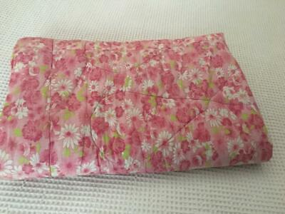 Vintage Pink  Floral Eiderdown /Coverlet / Pretty  Pattern - Rare & Collectable
