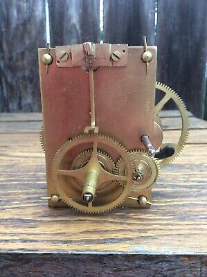 Vintage Reproduction American Weight Driven Clock Movement, Parts / Repairs