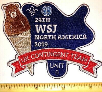 Unit 0 Contingent United Kingdom Badge Patch 2019 24th World Boy Scout Jamboree