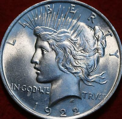 Uncirculated 1922 Philadelphia Mint Silver Peace Dollar