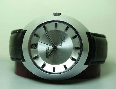 Vintage Enicar Sherpa Winding Date Swiss Mens Wrist Watch OLD Used Antique G143