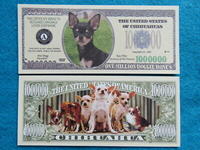 The United States of CHIHUAHUAS Dog Lovers ~ $1,000,000 One Million Dollars