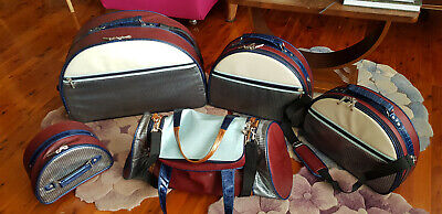 Vintage Luggage 4 Pce Spencer  Rutherford Excellent Cond.overnight Bonus Make Up