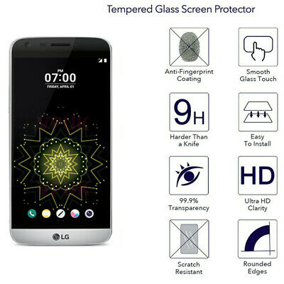 HD Anti-Scratch TEMPERED GORILLA GLASS SCREEN PROTECTOR film for LG G5 US SELLER