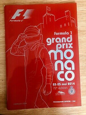 Official Programme Formula One (F1) Monaco Grand Prix 2014