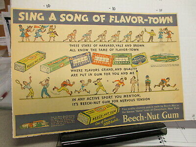 newspaper ad 1930s BEECH NUT chewing gum sports baseball golf hockey football