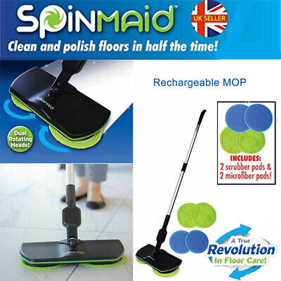 Home Electric Mop Floor Cleaner Sweepers Scrubber Polisher Brooms Rechargeable