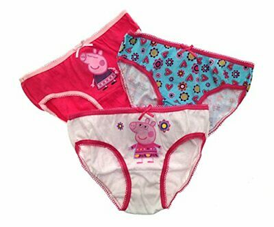 Peppa Pig Pack Of 3 Girl's Briefs (4-5yrs) & (6-8yrs)