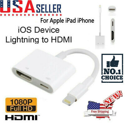 Lightning to HDMI Digital AV TV Cable Adapter For iPad iPhone X/5S/6/6S/7/8 Plus