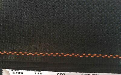 18ct - 18 count Zweigart Black Aida Cloth - Choose your size