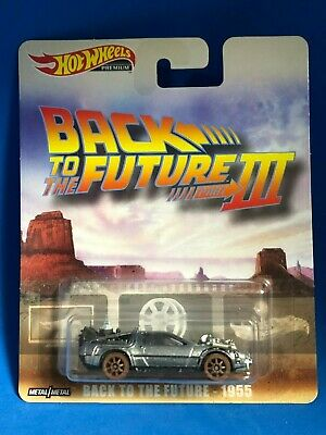 2019 Hot Wheels Premium Delorean Back To The Future 3 1955 Metal Metal